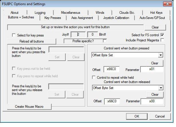 Assign a button to FSUIPC and read in Prosim - ProSim-AR Forum